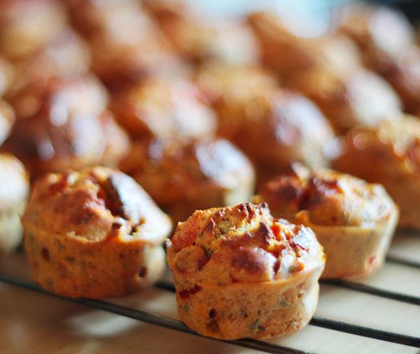Mini muffins poivron