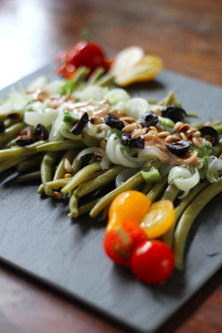 Salade de haricots vert sauce à l'anchois