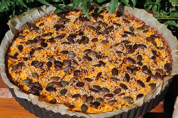 Tarte carottes quinoa