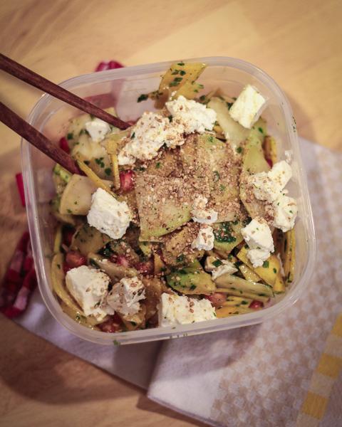 Salade chou rave carottes veggie