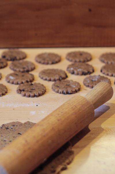 Biscuits petit épeautre noisette chocolat