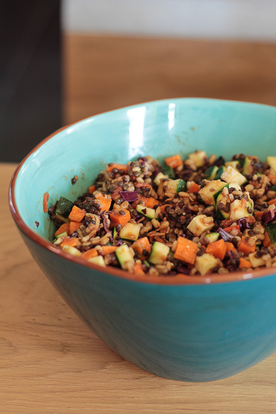Salade végétalienne pour l'été