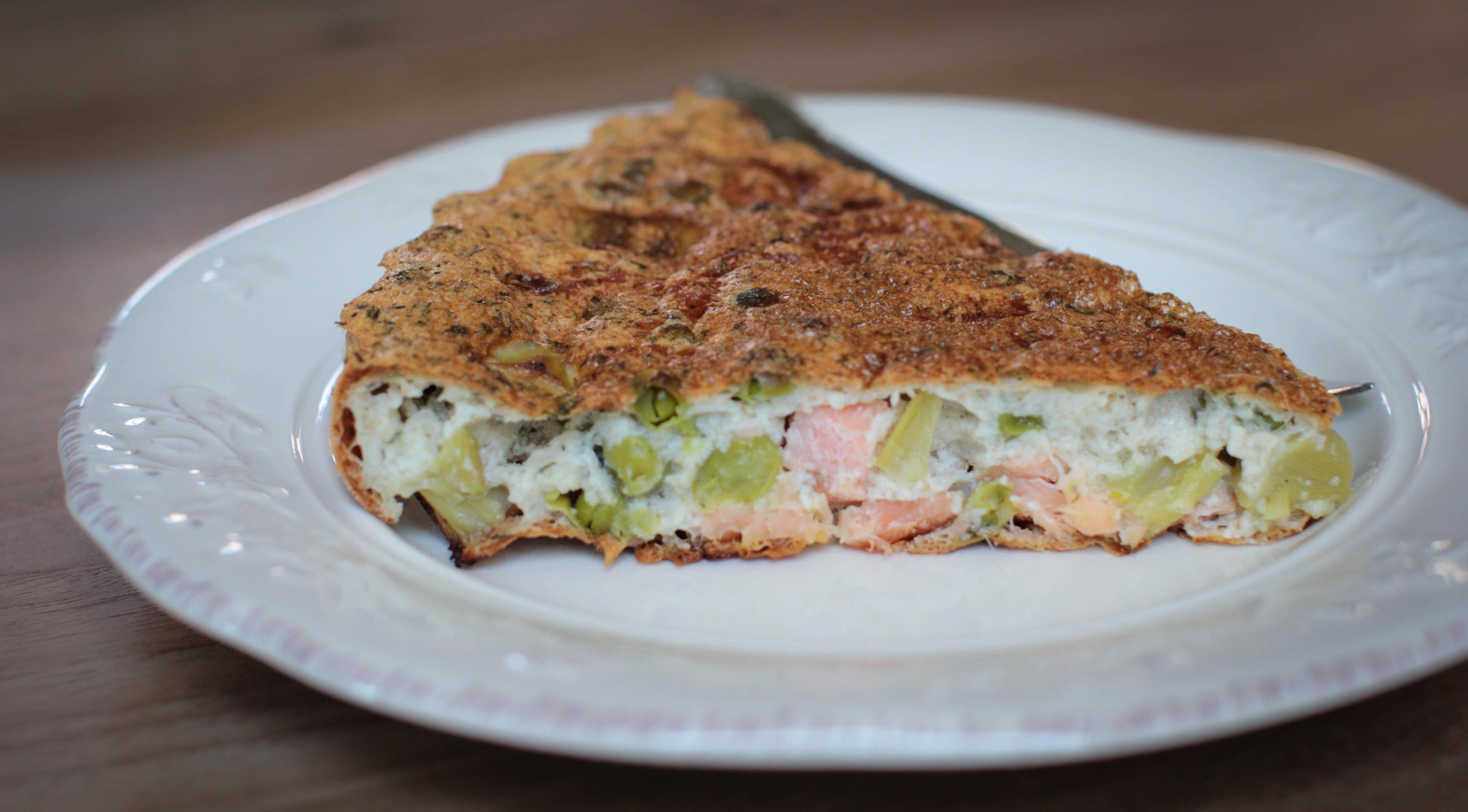 Clafoutis asperges saumon